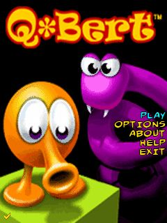 Mobile game Q-Bert - screenshots. Gameplay Q-Bert