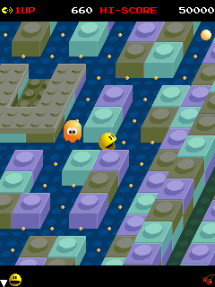 Mobile game Pac-Mania - screenshots. Gameplay Pac-Mania