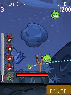Mobile game Angry Birds Space MOD - screenshots. Gameplay Angry Birds Space MOD