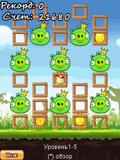 Mobile game Angry Birds Seasons - screenshots. Gameplay Angry Birds Seasons