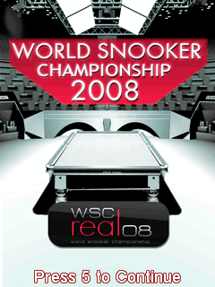 Download free mobile game: World Snooker Championship 2008 3D - download free games for mobile phone