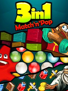 Mobile game 3 in 1 Match'n'Pop - screenshots. Gameplay 3 in 1 Match'n'Pop