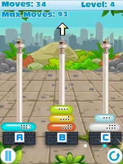 Mobile game Tower of Hanoi - screenshots. Gameplay Tower of Hanoi