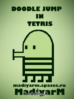Download free mobile game: Doodle Jump in Tetris - download free games for mobile phone