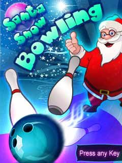 Download free mobile game: Santa Snow Bowling - download free games for mobile phone