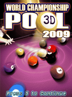 Download free mobile game: World Championship Pool 2009 3D - download free games for mobile phone