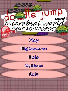 Mobile game Doodle Jump: Microbial world - screenshots. Gameplay Doodle Jump: Microbial world