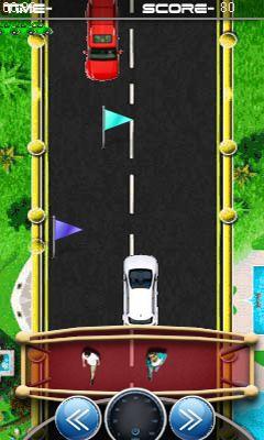Java game screenshots Racing the one way. Gameplay Racing the one way