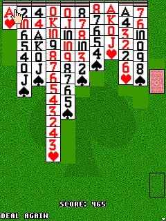 Mobile game Spider solitaire - screenshots. Gameplay Spider solitaire