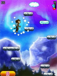 Mobile game Aero monkey jumping - screenshots. Gameplay Aero monkey jumping