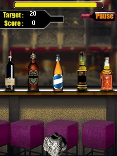 Mobile game Bottle shooter - screenshots. Gameplay Bottle shooter