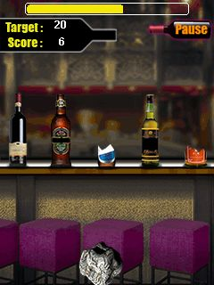 Mobile game Bottle shooter - screenshots. Gameplay Bottle shooter