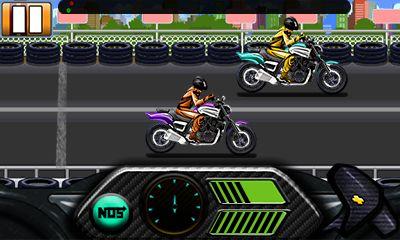 Mobile game Drag race: Bike - screenshots. Gameplay Drag race: Bike