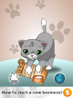 Java game screenshots Talking cat. Gameplay Talking cat