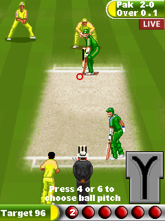Java game screenshots Cricket 11. Gameplay Cricket 11