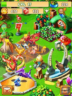 Mobile game Dragon mania - screenshots. Gameplay Dragon mania