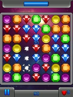 Mobile game Jewel star galaxy - screenshots. Gameplay Jewel star galaxy