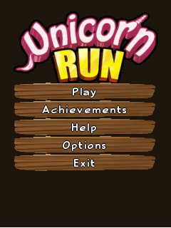 Mobile game Unicorn run - screenshots. Gameplay Unicorn run
