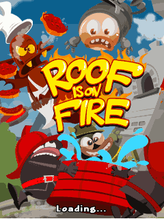 Download free mobile game: Roof is on fire - download free games for mobile phone