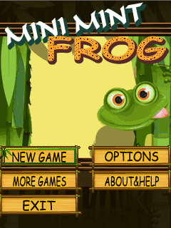Download free mobile game: Mini mint frog - download free games for mobile phone