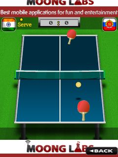 Java game screenshots Table tennis: World cup. Gameplay Table tennis