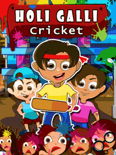 Download free mobile game: Holi galli cricket - download free games for mobile phone