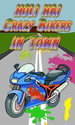 Download free mobile game: Holi hai: Crazy bikers in town - download free games for mobile phone