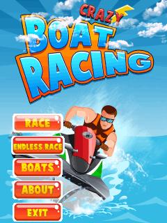 Java game screenshots Crazy boat racing. Gameplay Crazy boat racing
