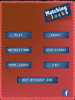 Java game screenshots Matching blocks. Gameplay Matching blocks
