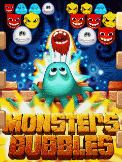 Download free mobile game: Monsters bubbles - download free games for mobile phone