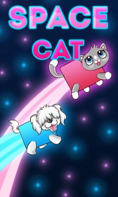 Download free mobile game: Space cat - download free games for mobile phone