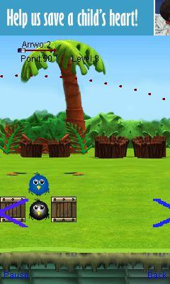 Java game screenshots Archery birds. Gameplay Archery birds