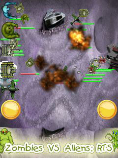Download free mobile game: Zombies vs aliens: RTS - download free games for mobile phone