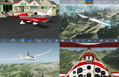 Screenshots of the Aerofly FS game for iPhone, iPad or iPod.