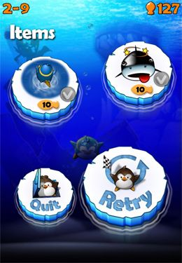 Screenshots of the Air Penguin game for iPhone, iPad or iPod.