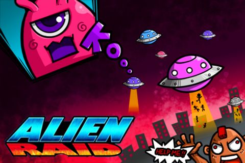 Download Alien raid iPhone free game.