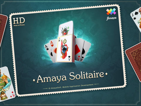 Screenshots of the Amaya Solitaire: Spider, Klondike, Free Cell game for iPhone, iPad or iPod.
