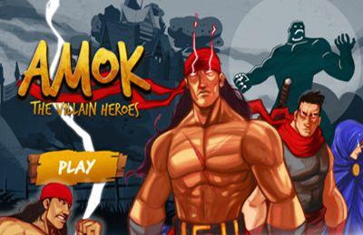 Screenshots of the Amok game for iPhone, iPad or iPod.