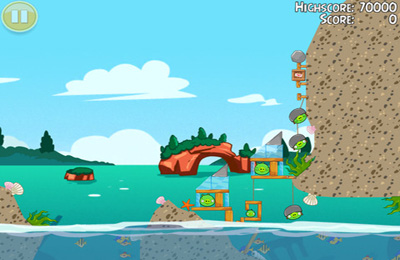 Screenshots of the Angry Birds Seasons: Water adventures game for iPhone, iPad or iPod.