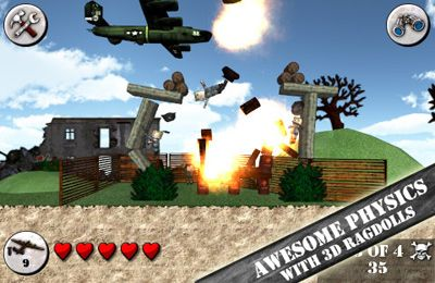 Screenshots of the Angry World War 2 game for iPhone, iPad or iPod.