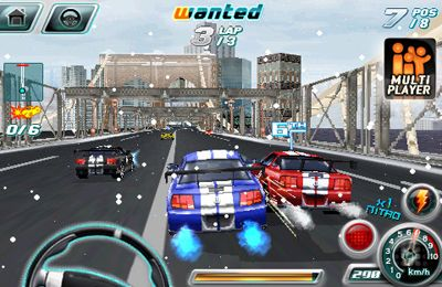 Screenshots of the Asphalt 4: Elite Racing game for iPhone, iPad or iPod.