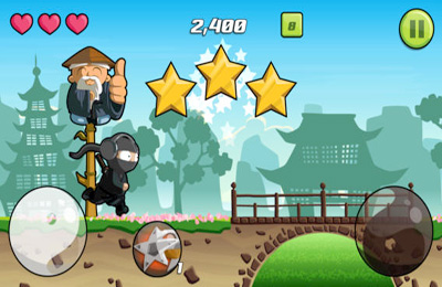 Screenshots of the Audio Ninja game for iPhone, iPad or iPod.