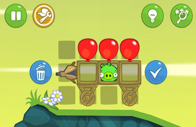 Screenshots of the Bad Piggies game for iPhone, iPad or iPod.