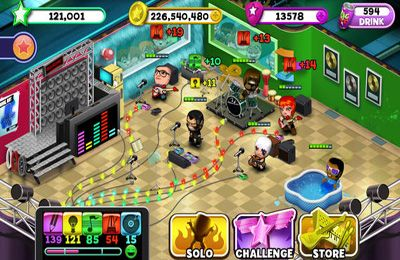 Screenshots of the Band Stars game for iPhone, iPad or iPod.