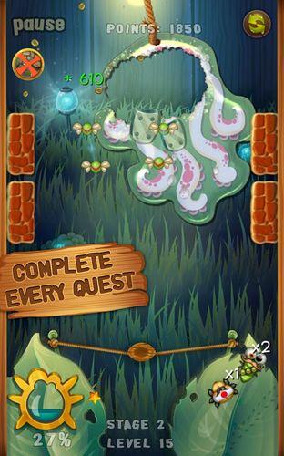 Screenshots of the Beetle breaker game for iPhone, iPad or iPod.