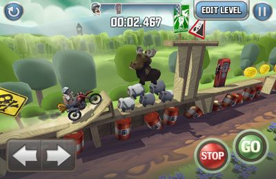 Screenshots of the Bike Baron game for iPhone, iPad or iPod.
