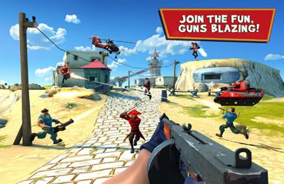 Screenshots of the Blitz Brigade – Online multiplayer shooting action! game for iPhone, iPad or iPod.