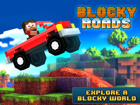 Screenshots of the Blocky Roads game for iPhone, iPad or iPod.