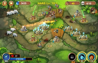 Screenshots of the Castle Defense game for iPhone, iPad or iPod.