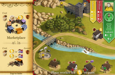 Screenshots of the Caylus game for iPhone, iPad or iPod.